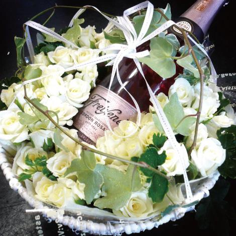 【A-14】シャンパンのフラワーアレンジ