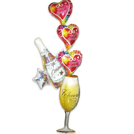 【BL-14】シャンパンハートのバルーン