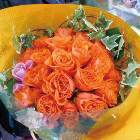 【B-12】オレンジローズのブーケ