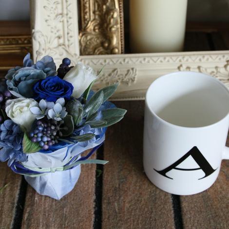 【KA-02】イニシャルマグカップ(Blue)