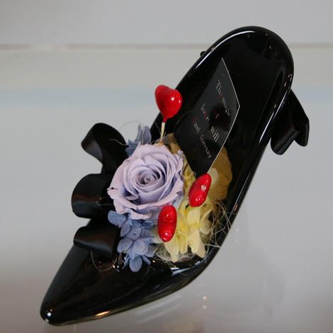 【KA-20】プリザガラスの靴(Black)