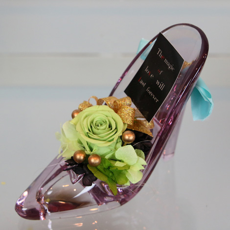 【KA-21】プリザガラスの靴(Purple)