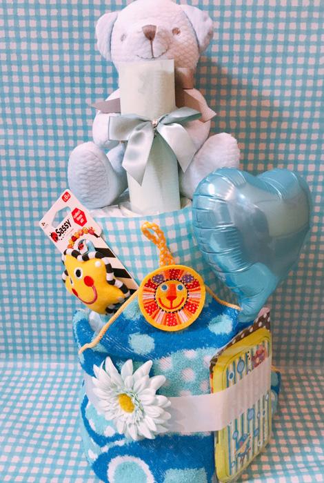 【DC-12】ブルーベアおむつケーキ