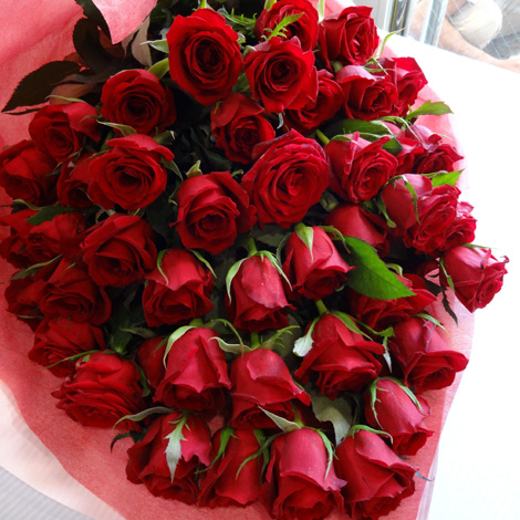 【R-02】60本特別割引 還暦用赤バラの花束