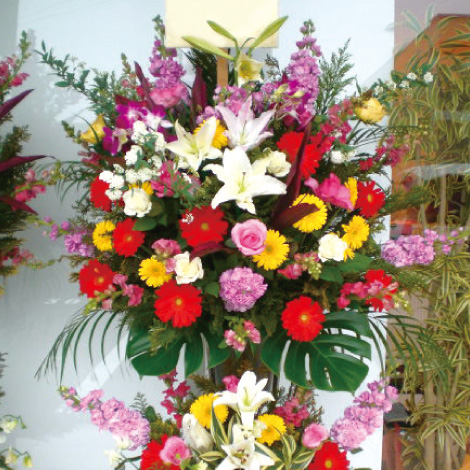 スタンダード2段式スタンド花イメージ
