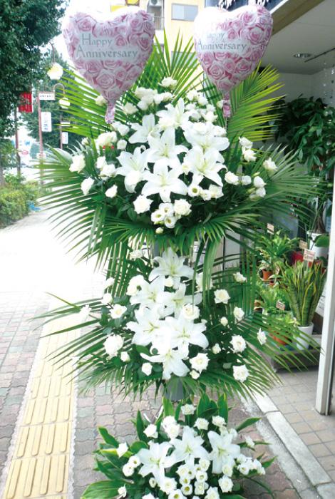 【S-06】3段式スタンド花