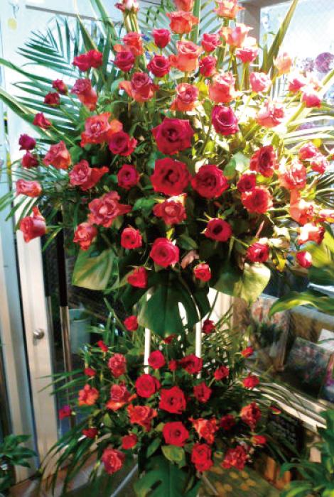 【S-12】2段式選べるバラスタンド花