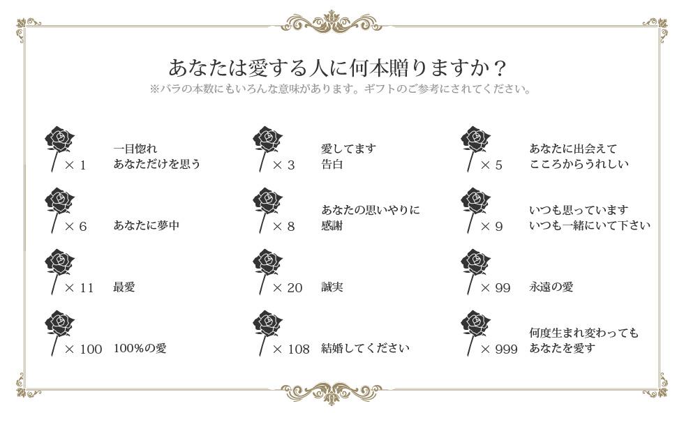 バラの本数花言葉